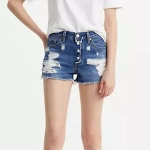 LEVI'S 501 Distressed Cut Off Short Button Fly U30
